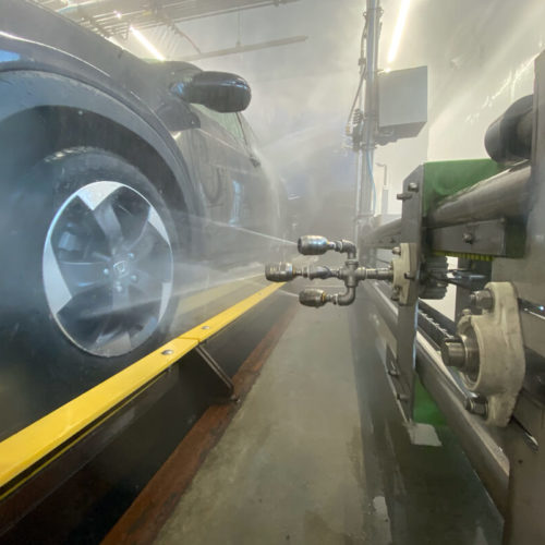 wheelblastIT spraying wheel side view